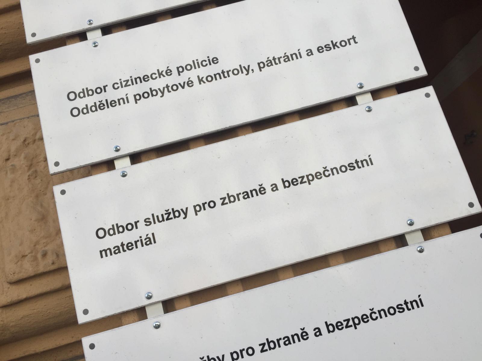 Policie ČR-Oddělení pro zbraně a bezpečnostní materiál Praha venkov